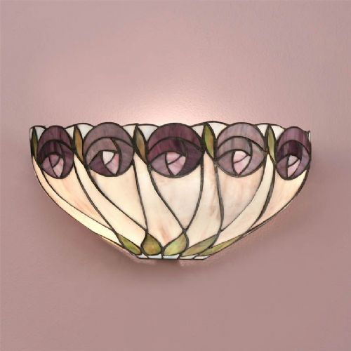 Hutchinson Wall Light (Mackintosh, Wall Lamp) T049W (Tiffany style)